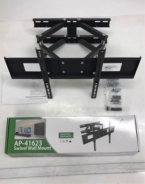New in box 32 to 65 inches swivel full motion tv television wall mount bracket 120 lbs capacity with hardwares included for Sale in Santa Fe Springs, CA