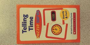 Telling time puzzle flashcard game for Sale in West Linn, OR