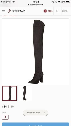 8.5 Steve Madden Suede Thigh High Boots for Sale in Duluth, GA