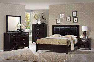 Dark Espresso Solid Wood Bedroom Set Bed for Sale in Seattle, WA