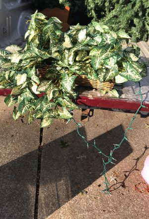 Fake plant in pot with lights for Sale in Lorain, OH