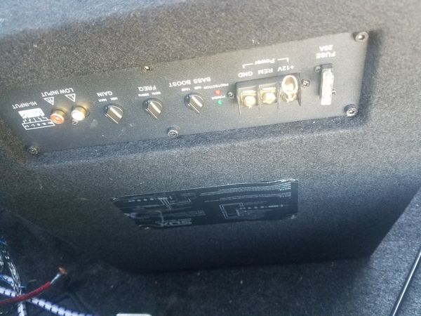 Sdx Pro audio system with amplifier