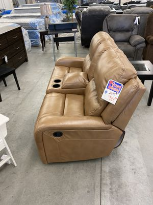 Genuine leather reclining sofa love seat brand new for Sale in West Jordan, UT