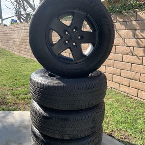 07-17 Jeep Wrangler Jk Rims And Tires for Sale in Chino, CA