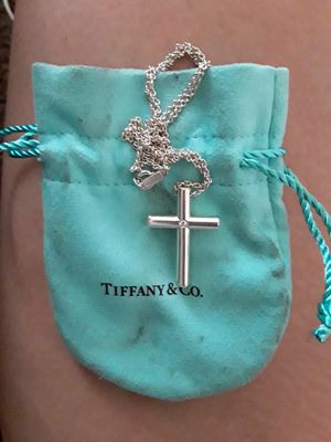 Tiffany & Co. Cross w/diamond center for Sale in West Valley City, UT