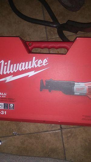 Millwaukee sawzall recipe saw kit for Sale in Phoenix, AZ