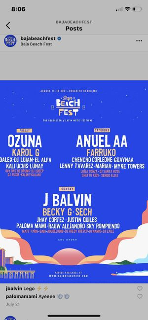 Baja beach fest for Sale in Los Angeles, CA