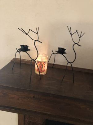 Vintage Metal Christmas Reindeer candle holders for Sale in Westminster, CO