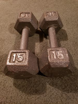 15 lbs dumbbells x 2 for Sale in Orem, UT