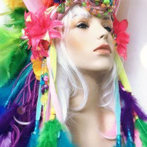 Unicorn headpiece headdress Mardi Gras burning man for Sale in Kissimmee, FL