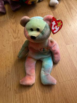 Rare Peace Bear Beanie Baby for Sale in Philadelphia, PA