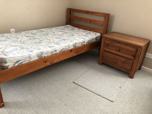 Twin bed with mattress and night stand - FREE for Sale in Buffalo Grove, IL