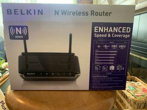 Belkin N Wireless Router for Sale in Flower Mound, TX