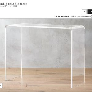 (2) Peekaboo Acrylic Consol Table for Sale in Los Angeles, CA
