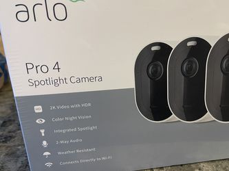 (Sealed) Arlo Pro 4 Spotlight Security Camera Kit for Sale in Bothell,  WA