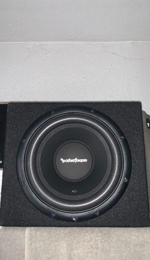 "Brand New (1) 10"" Rockford Fosgate SVC subwoofer w/ box , amplifier & kit for Sale in Gardena, CA"