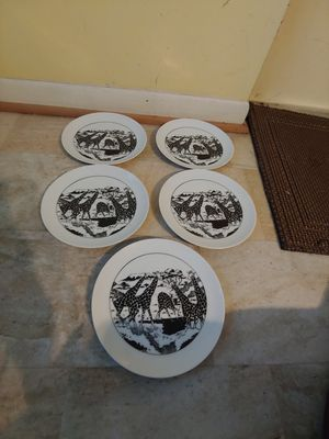 Black and white giraffe plates 8x8 for Sale in West Palm Beach, FL