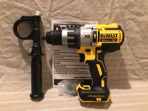 Brand new never used Dewalt XR 20V brushless 3 speed hammer drill , & tool case for Sale in Vacaville, CA