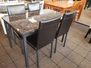 Faux Marble Dining Table with four chairs for Sale in Phoenix, AZ