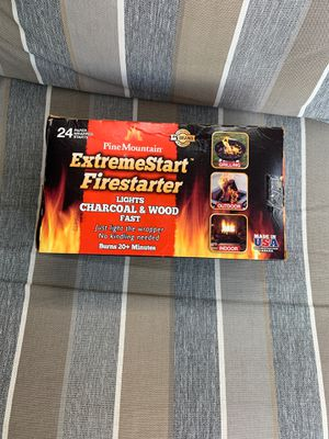 Pine Mountain ExtremeStart Fire Starters 24 Starts Campfire Woodstove Fireplace for Sale in Milwaukee, WI