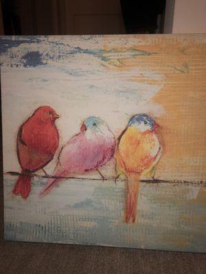 Bird canvas wall art for Sale in San Diego, CA
