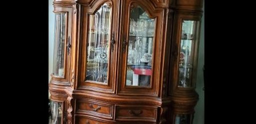 HUGE antique display cabinet with glass doors for Sale in Whittier,  CA