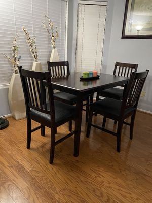 Dining Table With 4 Leather Chairs (Like New) OBO for Sale in Rancho Cucamonga, CA