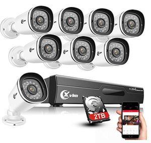8CH 1080P Home Security Camera System with 2TB Hard Drive Outdoor IP66 Waterproof CCTV Recorder 8pcs HD 1920TVL Upgrade Home Surveillance Cameras wit for Sale in Rancho Cucamonga, CA
