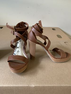 Brown high heels size 6 for Sale in La Puente, CA