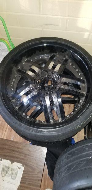 Black wheels all 4 for Sale in Richmond, VA
