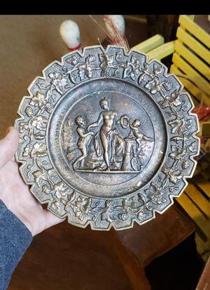 "Antique bronze decorative plate (8"" diameter) for Sale in Columbus, OH"