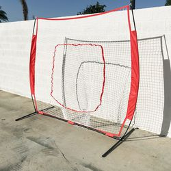 New in box $50 Baseball and Softball Practice Net Hitting and Pitching 7'x7' with Bow Frame for Sale in South El Monte,  CA