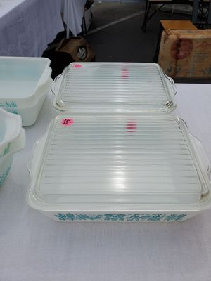 Pyrex Butterprint 503 refrigerator dish w/lid for Sale in Anaheim, CA