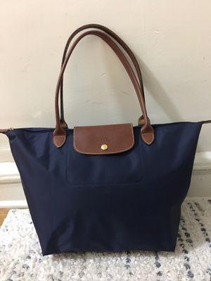 longchamp le pliage tote shoulder bag navy blue medium for Sale in Fort Lee, NJ