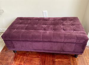 Velvet Ottoman Bench with Storage for Sale in Arlington, VA