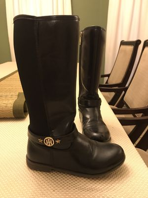 Size 2 Girl Black Boots Tommy Hilfiger Brand for Sale in Mission, TX