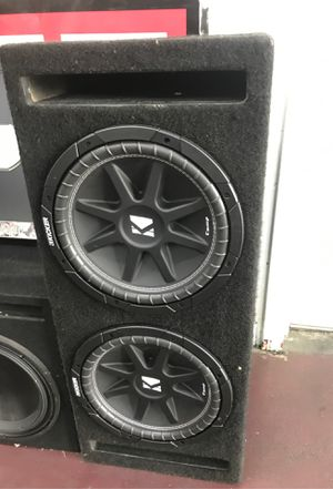 """Kicker comp series dual 12"""" subs comp serie bass speaker audio sound ported box enclosure for Sale in Gardena, CA"""