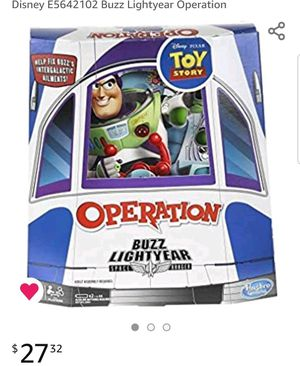 Hasbro Gaming Operation: Disney/Pixar Toy Story Buzz Lightyear Board Game for Kids Ages 6 & Up for Sale in Joint Base Andrews, MD