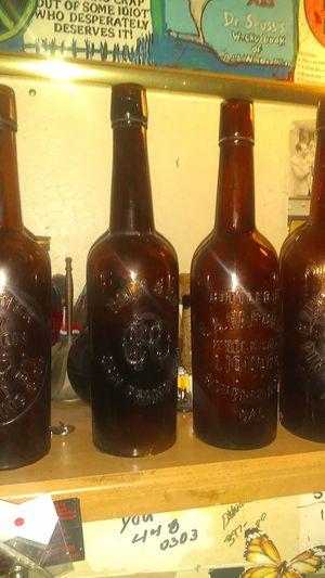 Antique whiskey Bourbon bottles for Sale in Fresno, CA