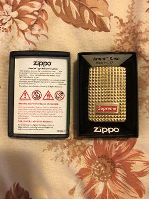 Supreme Zippo Diamond Cut Gold for Sale in Garden Grove, CA