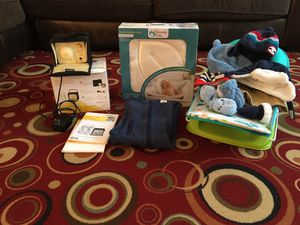 Baby bather ,breast pumper,bath lotus,baby hats and gloves,baby toys, onesie for Sale in Manassas, VA