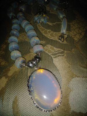 Opalite Moonstone necklace earrings set for Sale in Apopka, FL