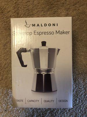 Maldoni 6 cup Stovetop Espresso Coffee Maker New in box for Sale in Gaithersburg, MD