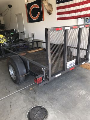 Utility trailer, 8'x5'. (12ft total length) for Sale in Romoland, CA