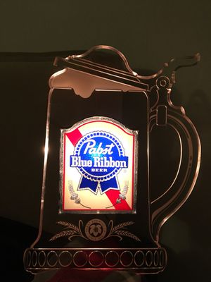1984 pabst blue ribbon edge Stein light for Sale for sale  Huntington Beach, CA