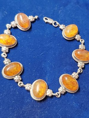 Sterling silver amber bracelet for Sale in San Antonio, TX