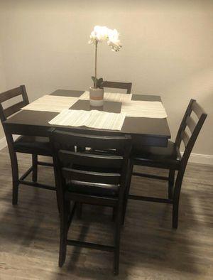 (BRAND NEW) 5-PC Breakfast Kitchen Dinning Table Set - Espresso Brown for Sale in Sugar Land, TX