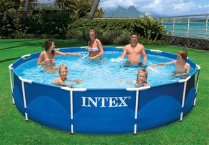 Intex 12' x 30'' metal frame pool with pump for Sale in Fresno, CA