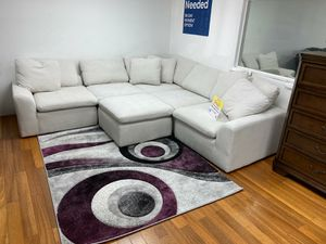 WE ARE OPEN! COMFY NEW AVENTURA SECTIONAL SOFA AND OTTOMAN SET ON SALE ONLY $699. IN STOCK, SAME DAY DELIVERY. NO CREDIT NEEDED FINANCING for Sale in Tampa, FL