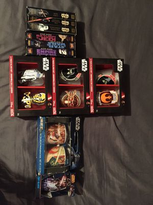 Star war collectible glasses and vhs tapes for Sale in Geneva, FL
